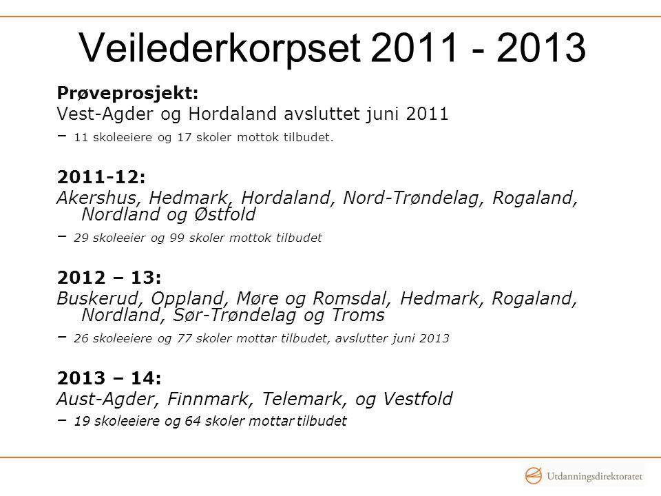 Veilederkorpset 2011 - 2013