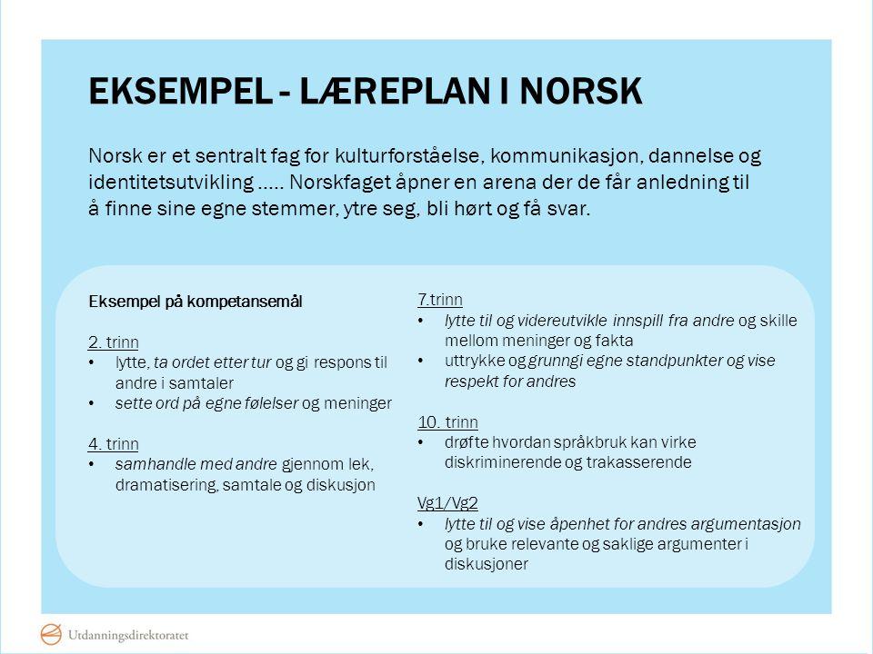Eksempel - læreplan i norsk