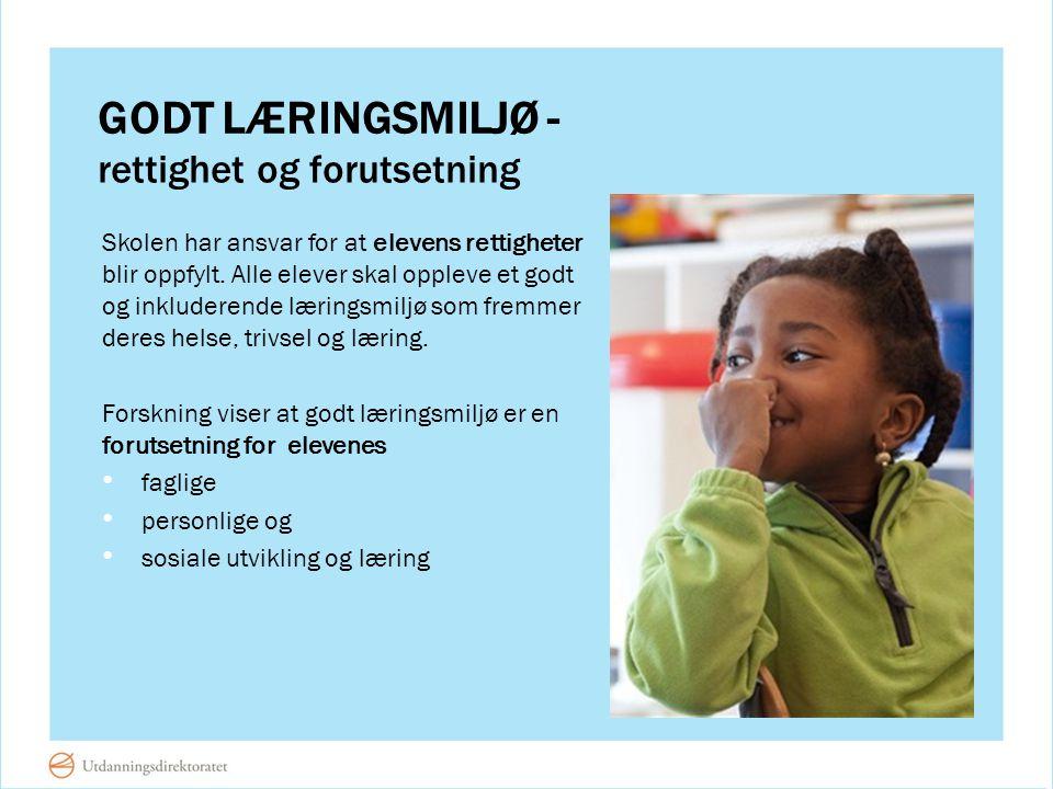 Godt læringsmiljø - rettighet og forutsetning