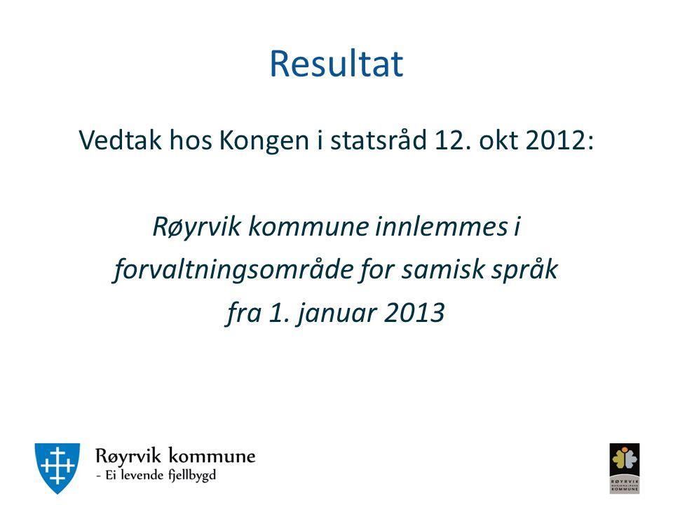 Resultat Vedtak hos Kongen i statsråd 12.