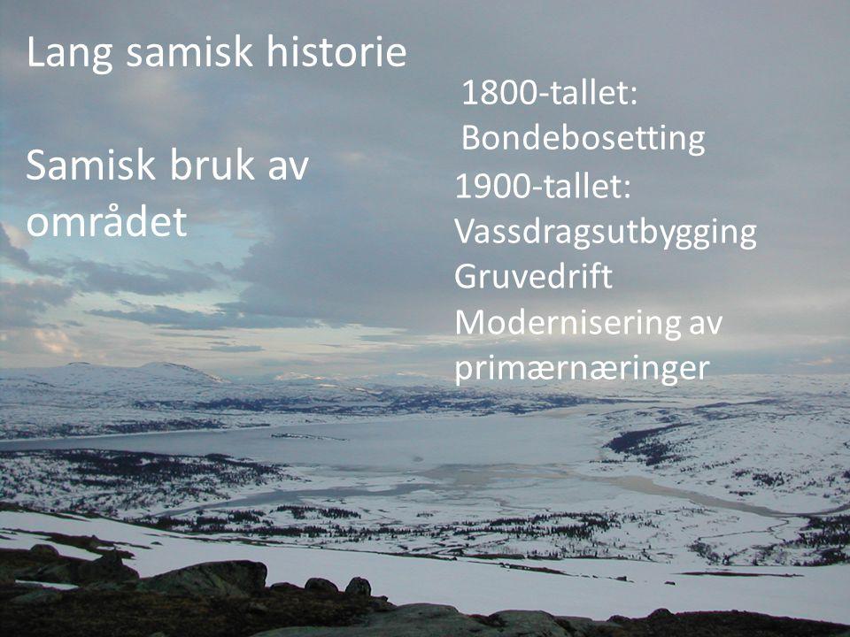 Lang samisk historie Samisk bruk av området 1800-tallet: