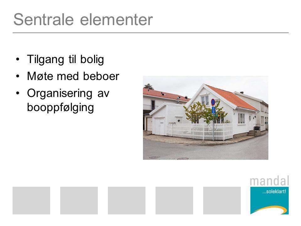 Sentrale elementer Tilgang til bolig Møte med beboer
