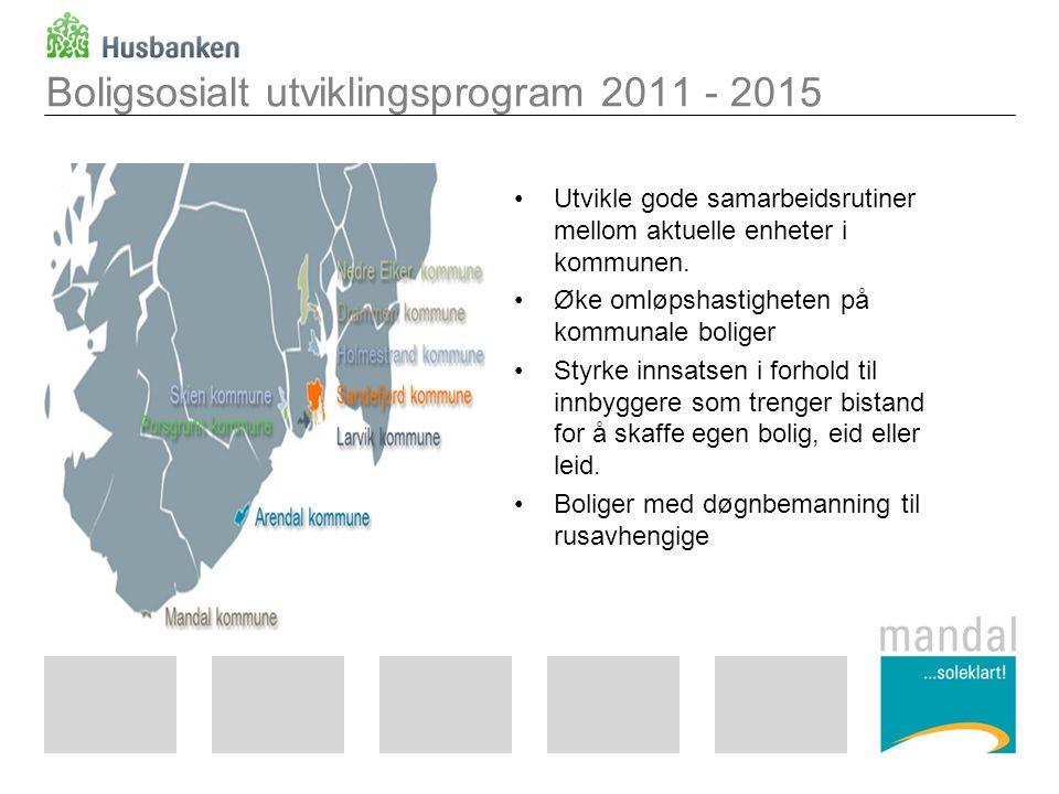 Boligsosialt utviklingsprogram 2011 - 2015