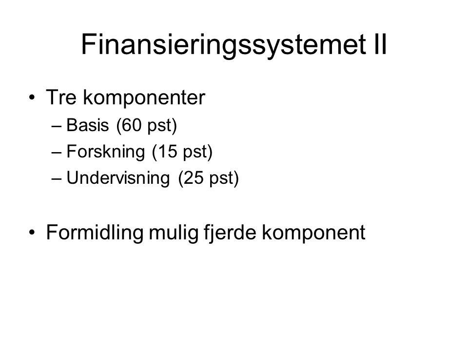 Finansieringssystemet II