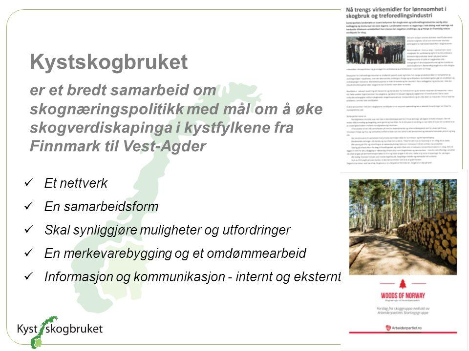 Kystskogbruket er et bredt samarbeid om skognæringspolitikk med mål om å øke skogverdiskapinga i kystfylkene fra Finnmark til Vest-Agder.