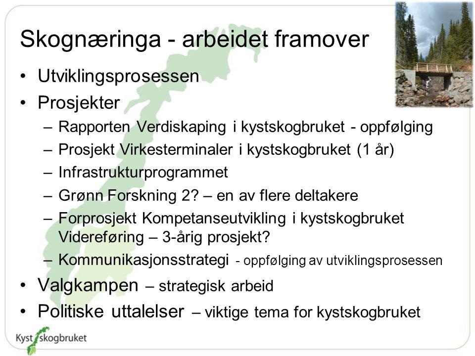 Skognæringa - arbeidet framover
