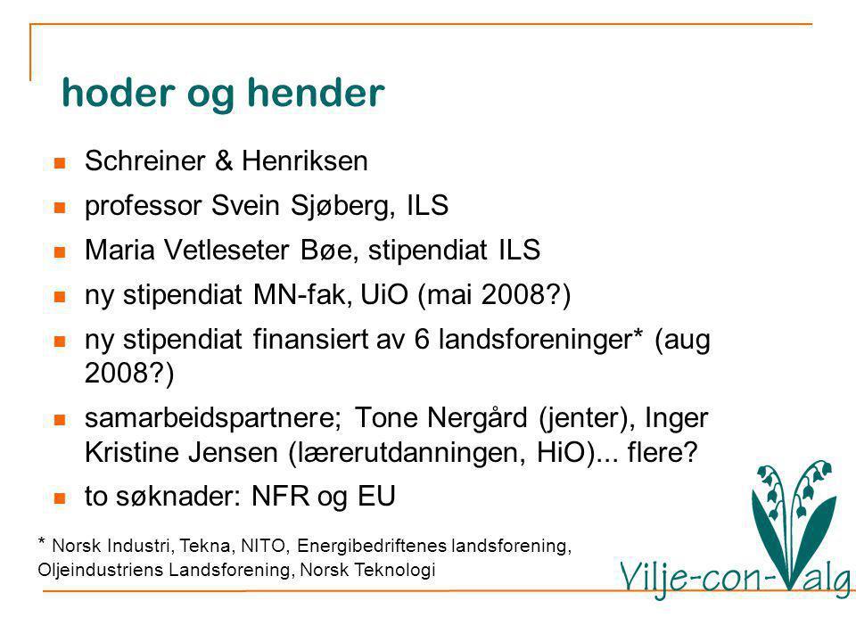 hoder og hender Schreiner & Henriksen professor Svein Sjøberg, ILS