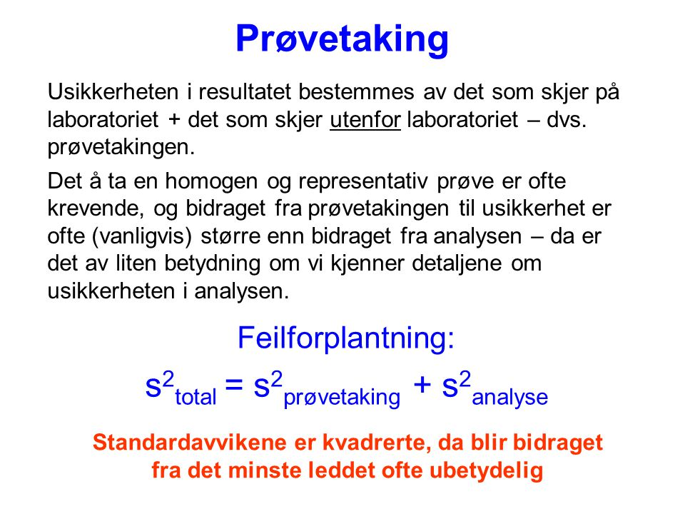 s2total = s2prøvetaking + s2analyse