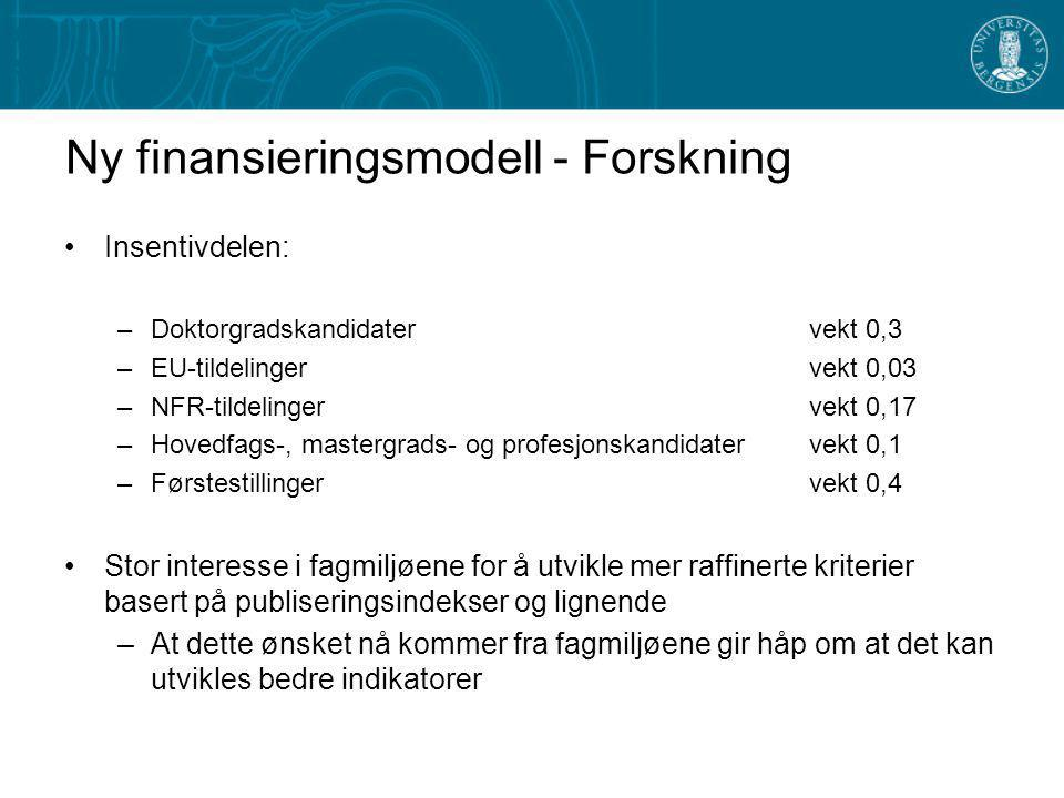 Ny finansieringsmodell - Forskning