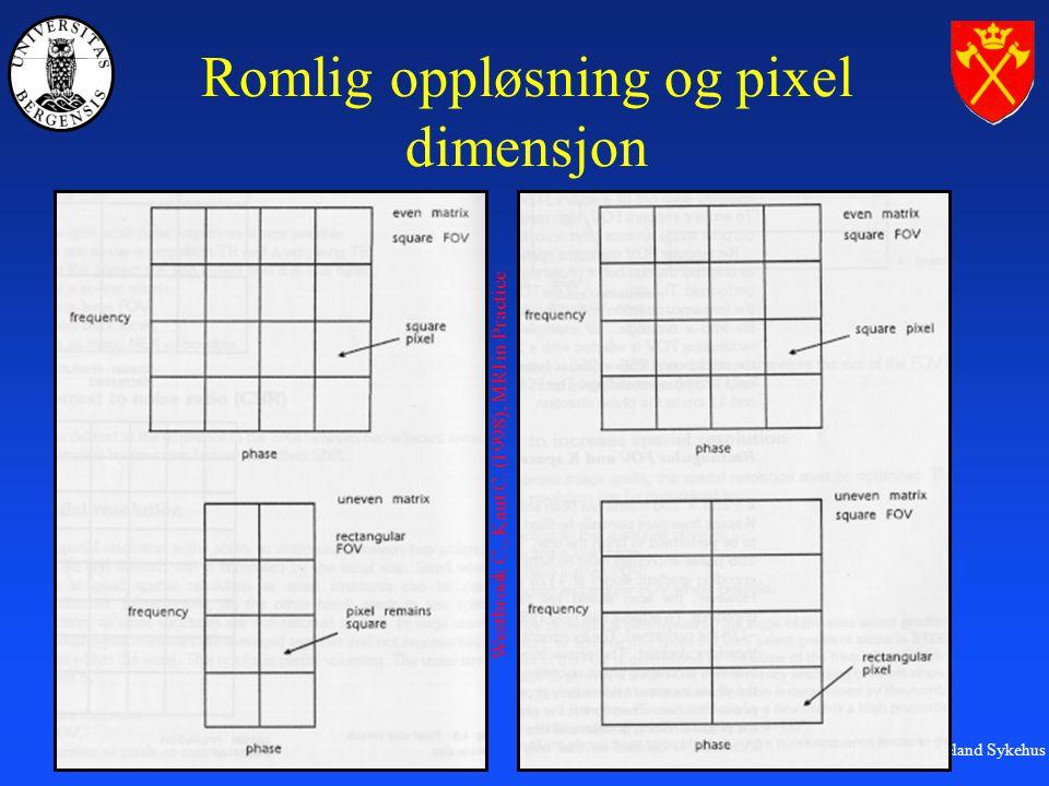 Romlig oppløsning og pixel dimensjon