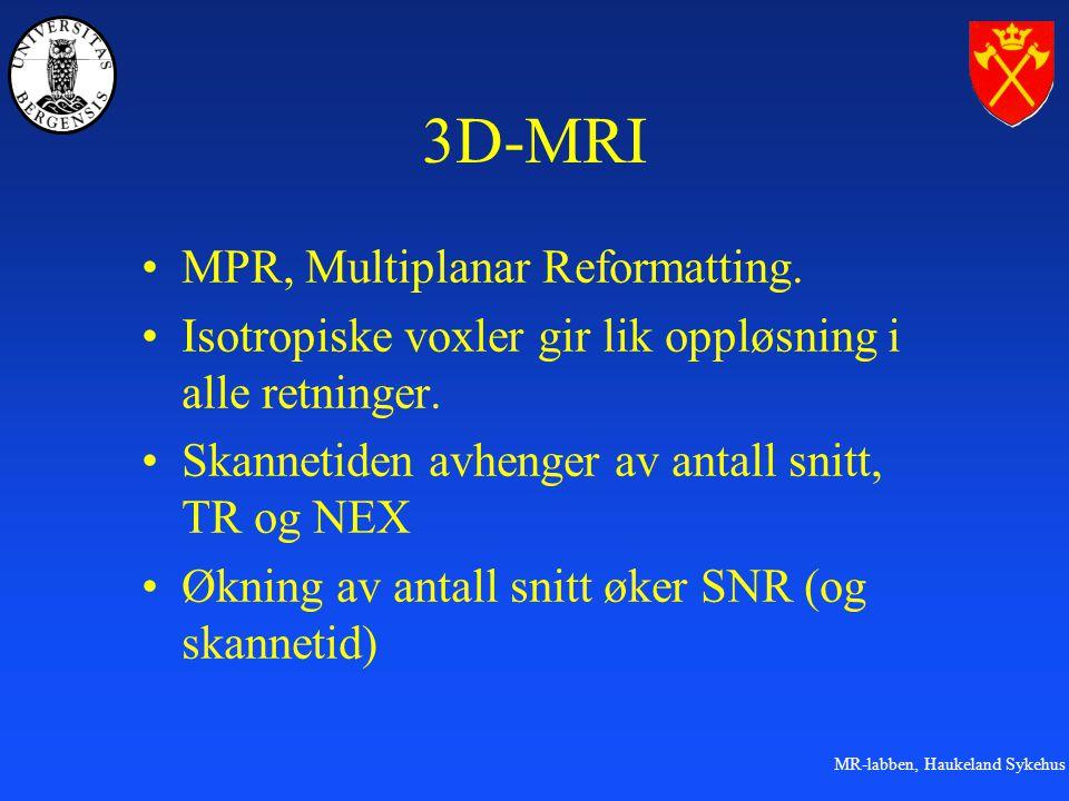 3D-MRI MPR, Multiplanar Reformatting.