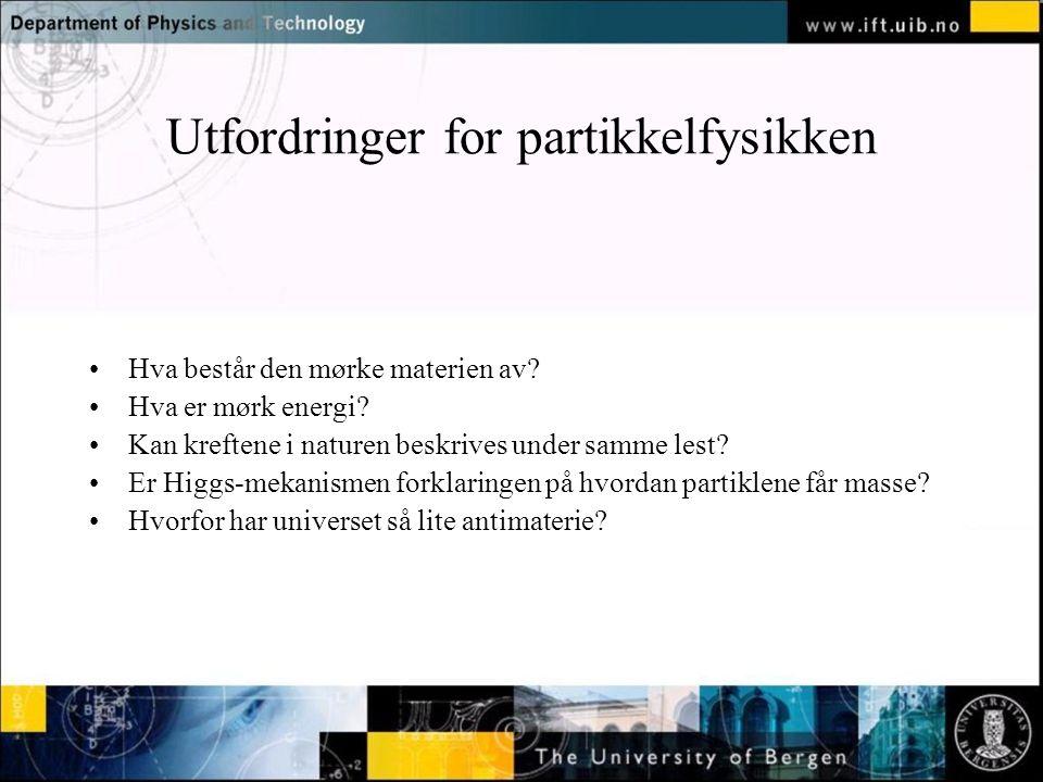 Utfordringer for partikkelfysikken