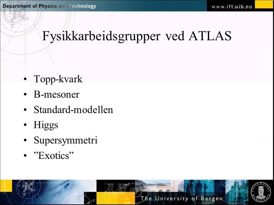 Fysikkarbeidsgrupper ved ATLAS