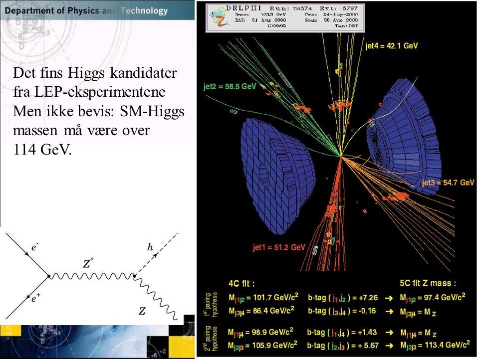 Det fins Higgs kandidater