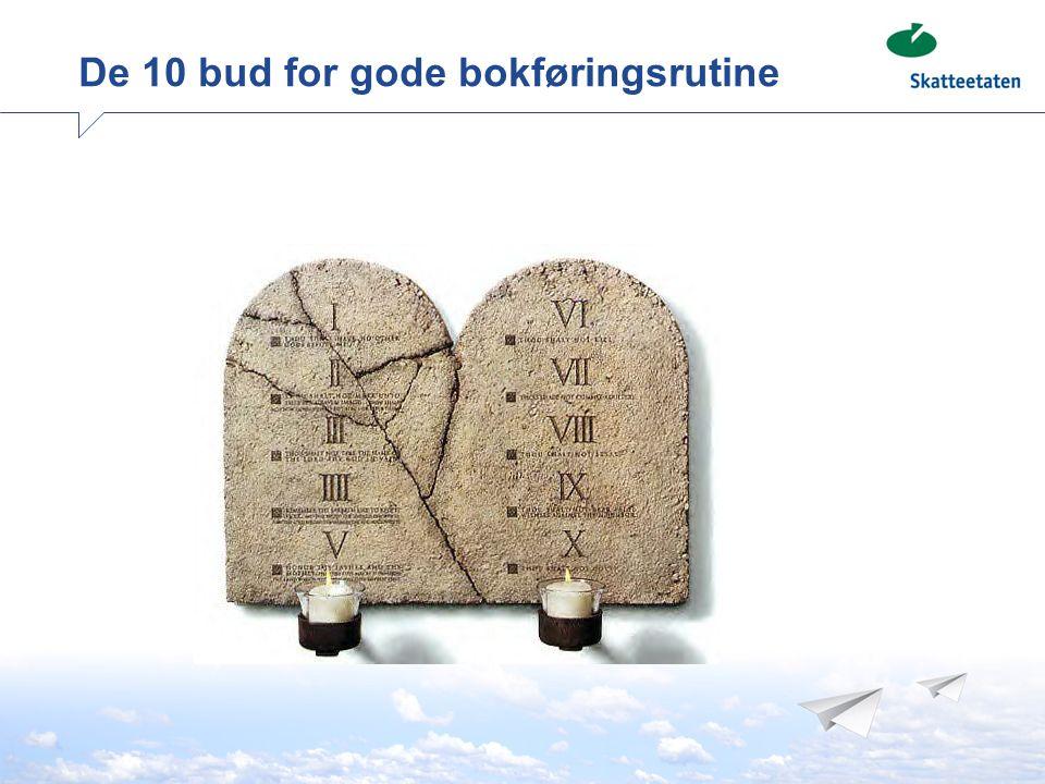 De 10 bud for gode bokføringsrutine