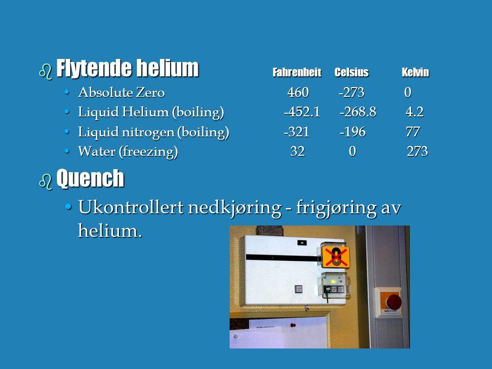 Flytende helium Fahrenheit Celsius Kelvin