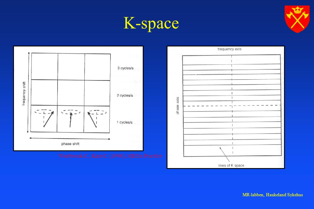 K-space Westbrook C., Kaut C. (1998), MRI in Practice