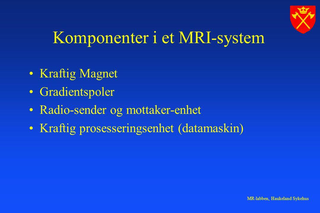 Komponenter i et MRI-system