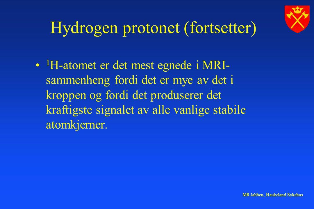 Hydrogen protonet (fortsetter)