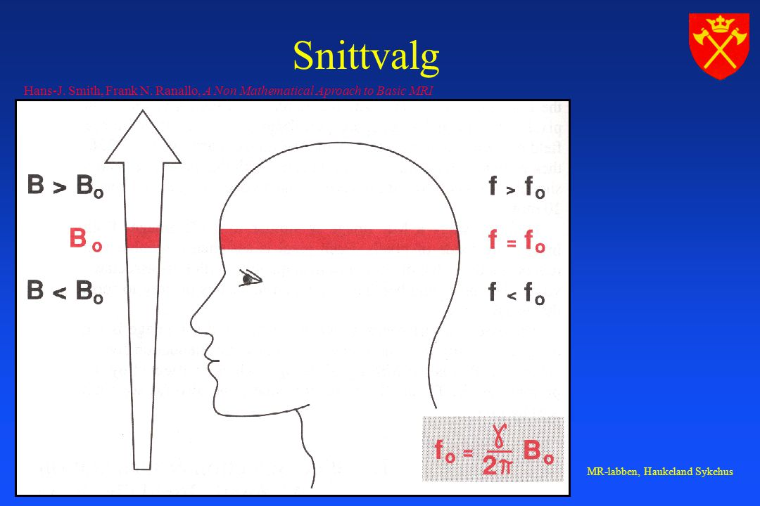 Snittvalg Hans-J. Smith, Frank N. Ranallo, A Non Mathematical Aproach to Basic MRI