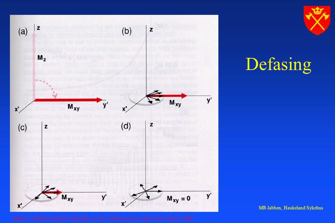 Defasing Hans-J. Smith, Frank N. Ranallo, A Non Mathematical Aproach to Basic MRI