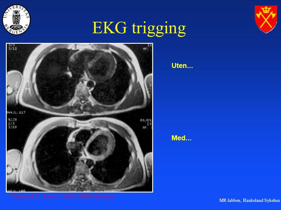 EKG trigging Uten... Med... Westbrook C., Kaut C. (1998), MRI in Practice