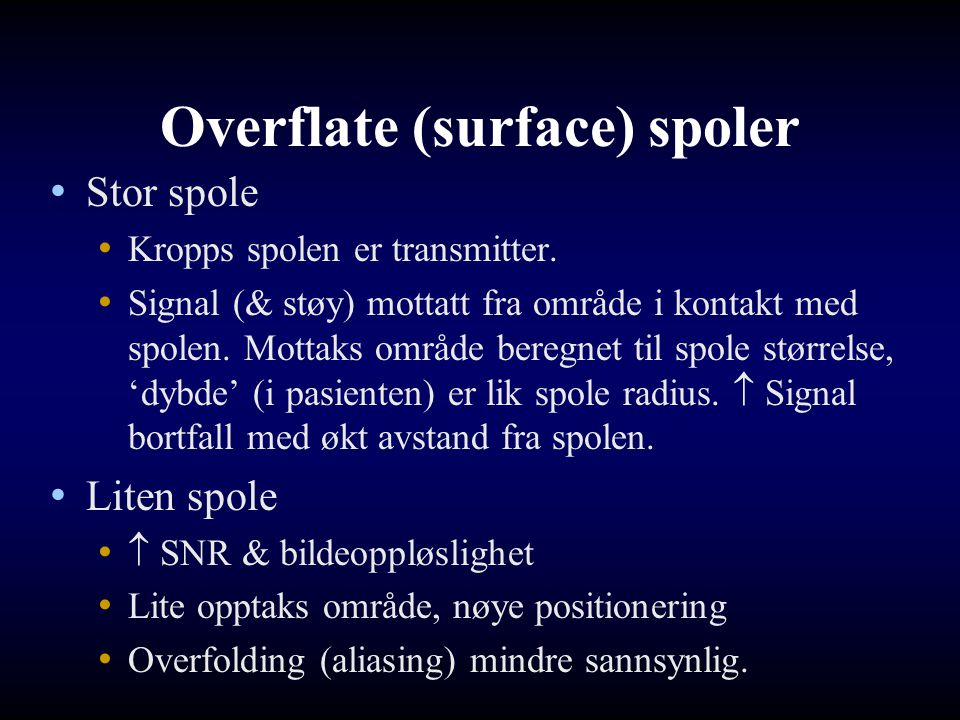 Overflate (surface) spoler