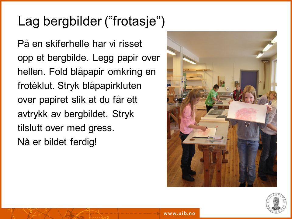 Lag bergbilder ( frotasje )