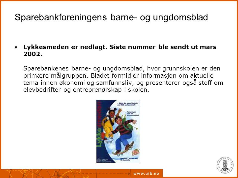 Sparebankforeningens barne- og ungdomsblad