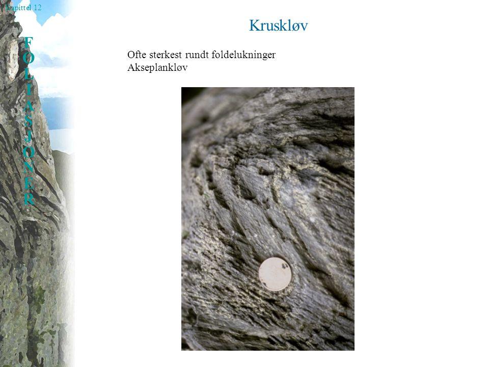 Kruskløv Ofte sterkest rundt foldelukninger Akseplankløv