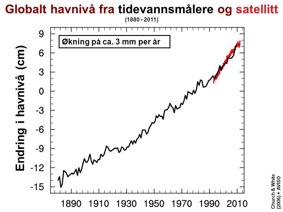 Globalt havnivå fra tidevannsmålere og satellitt