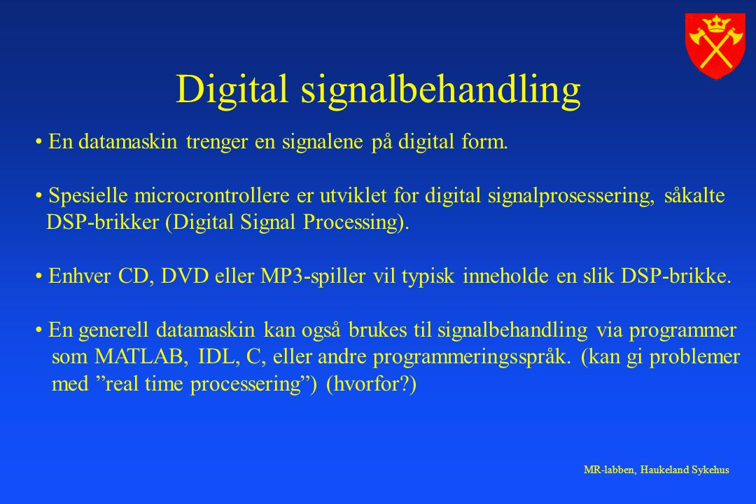 Digital signalbehandling