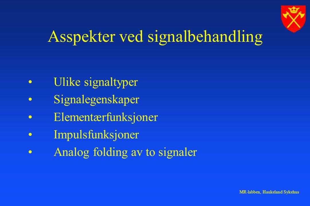 Asspekter ved signalbehandling