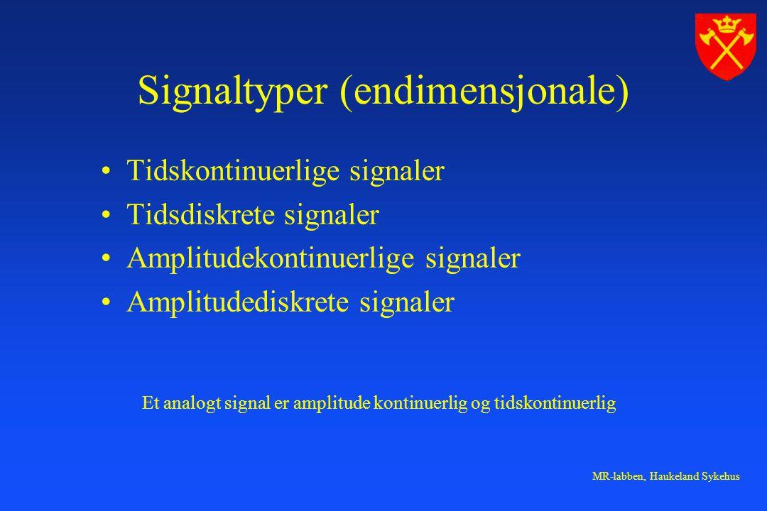 Signaltyper (endimensjonale)