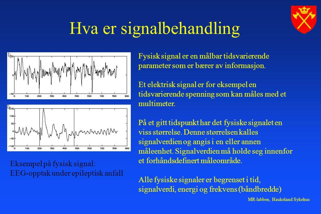 Hva er signalbehandling