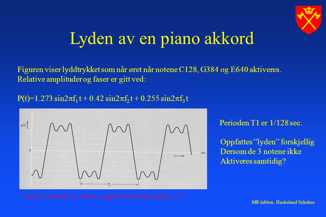 Lyden av en piano akkord