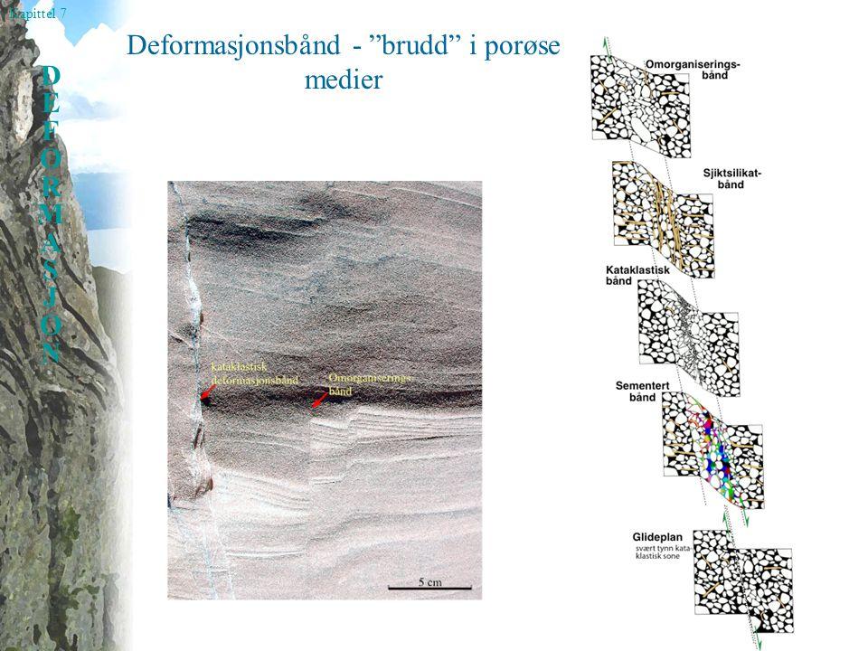 Deformasjonsbånd - brudd i porøse medier
