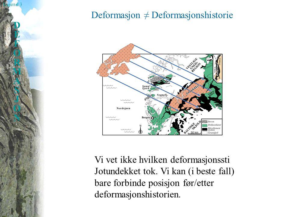 Deformasjon ≠ Deformasjonshistorie