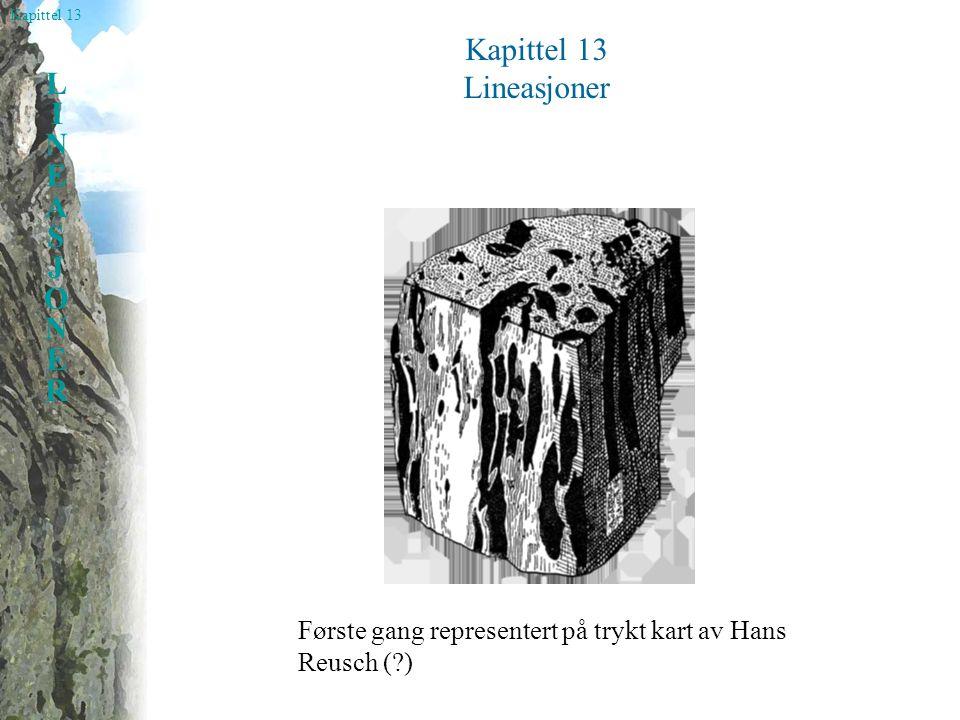 Kapittel 13 Lineasjoner Første gang representert på trykt kart av Hans Reusch ( )