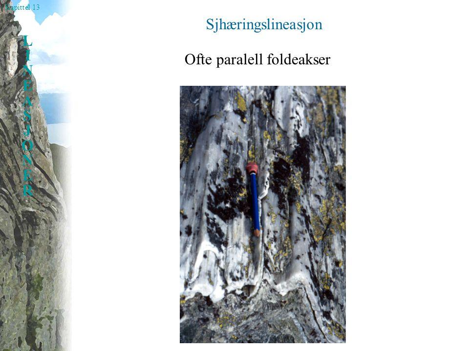 Sjhæringslineasjon Ofte paralell foldeakser