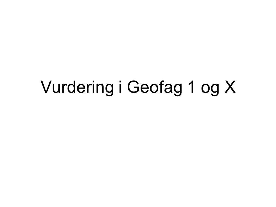 Vurdering i Geofag 1 og X