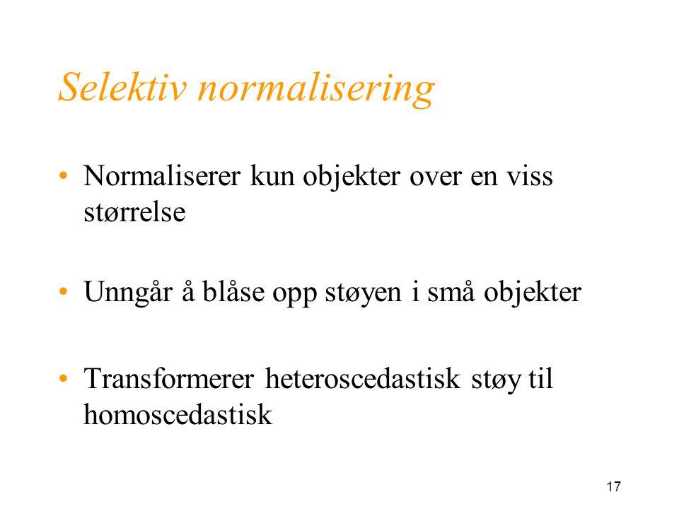Selektiv normalisering