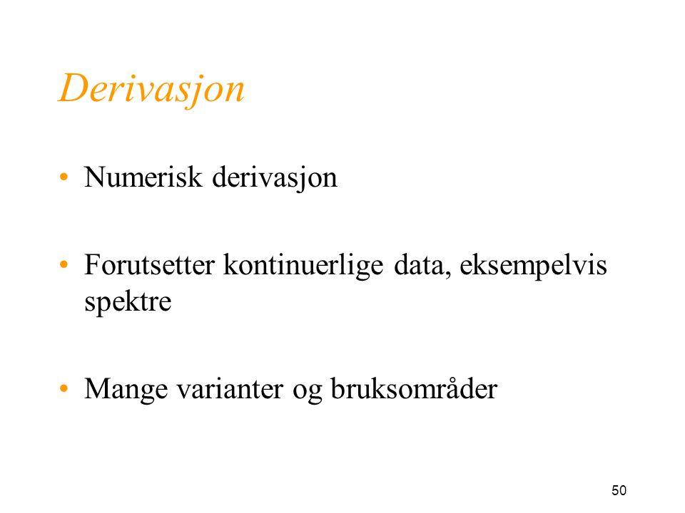 Derivasjon Numerisk derivasjon