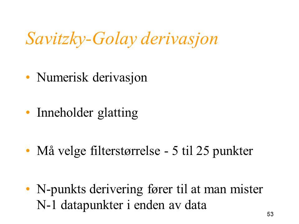 Savitzky-Golay derivasjon