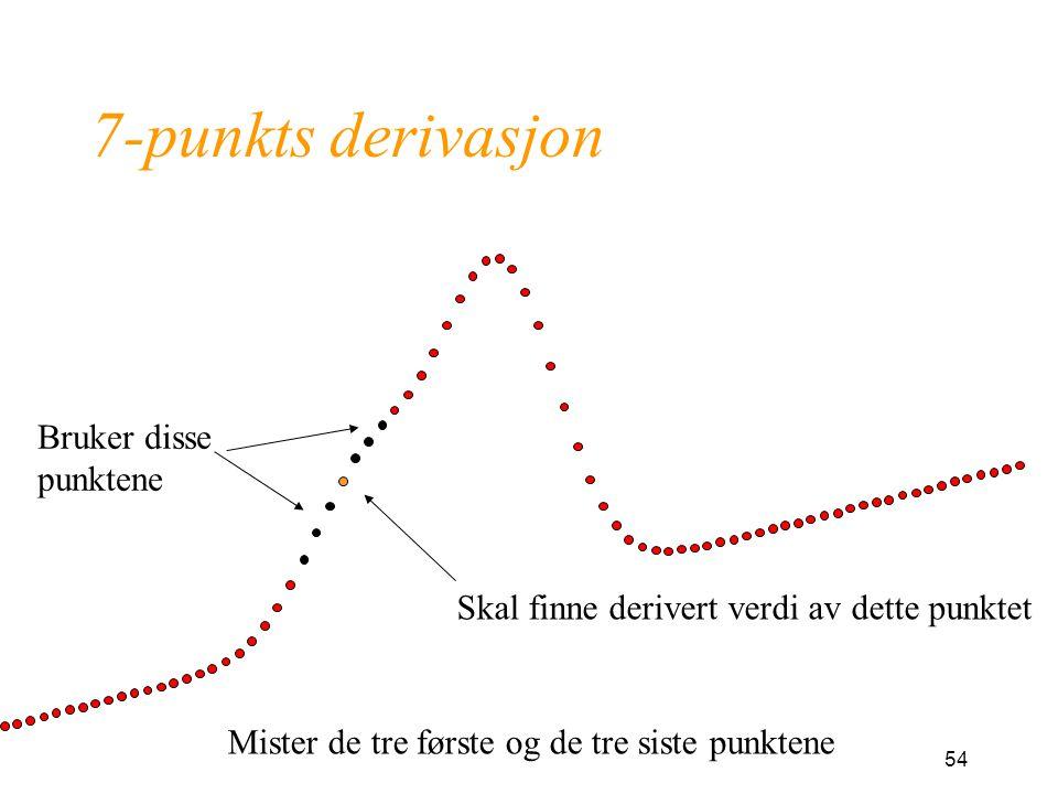 7-punkts derivasjon Bruker disse punktene