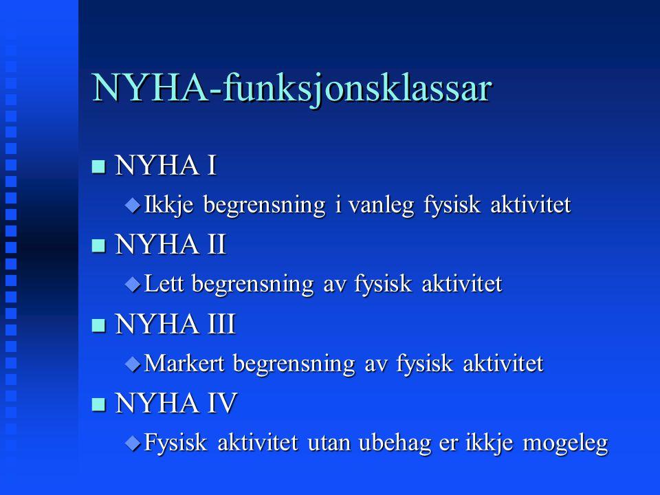 NYHA-funksjonsklassar