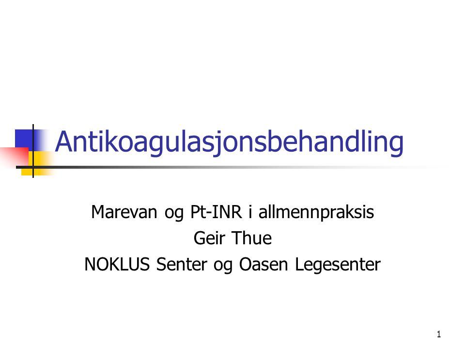 Antikoagulasjonsbehandling