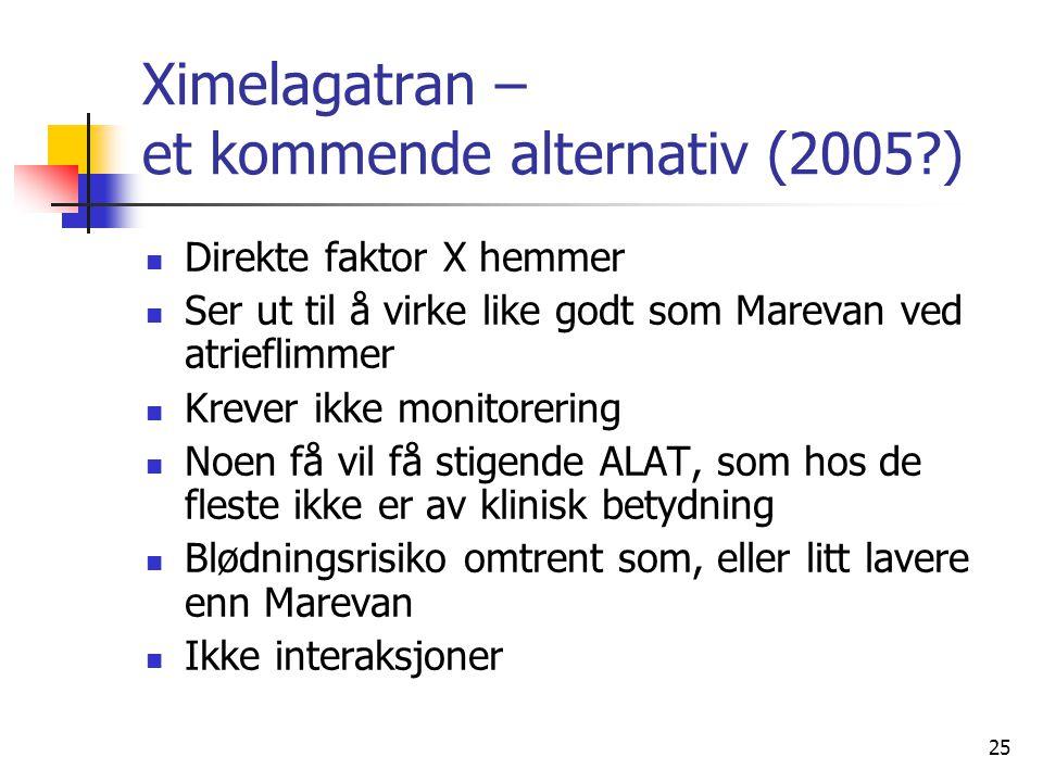 Ximelagatran – et kommende alternativ (2005 )