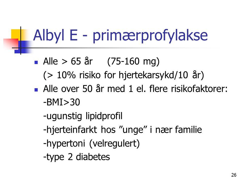Albyl E - primærprofylakse