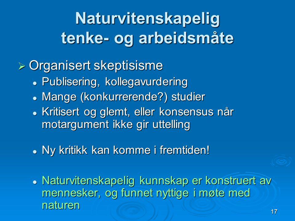 Naturvitenskapelig tenke- og arbeidsmåte